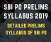 SBI PO Prelims Exam Syllabus - Preliminary Exam Syllabus