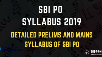 SBI PO Syllabus - Detailed Syllabus for SBI PO Exam