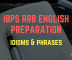 banner image IBPS RRB idioms and phrases