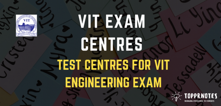 Exam Centres for VITEEE - VIT Entrance Exam Test Centres