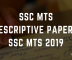 SSC MTS Descriptive Paper