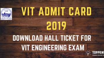 VIT Admit Card - Download VITEEE 2019 Admit Card