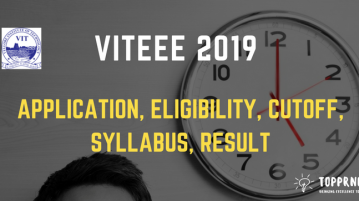 VITEEE 2019 - Registration, Exam Pattern, Cutoff, Result