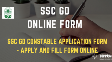 SSC GD Online Form - Apply online for SSC GD