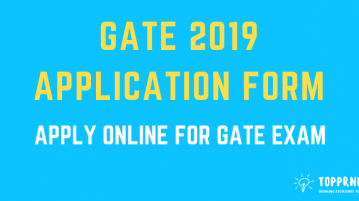 GATE 2019 Application form - Apply inline for GATE Exam