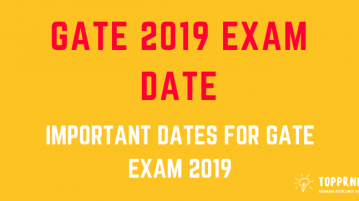 GATE Exam Date - Important Dates for GATE Exam
