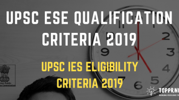 UPSC ESE Qualification - Eligibility Criteria for UPSC IES
