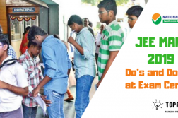 JEE Main Exam Center Tips