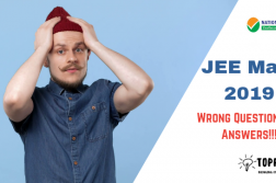 Wrong Question Answers in JEE Main 2019